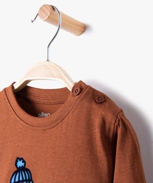 Tee-shirt bébé garçon à manches longues à motif recto-verso vue2 - GEMO(BEBE DEBT) - GEMO