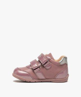 Chaussures bébé fille à scratch décor fleurs - Geox vue3 - GEOX - GEMO