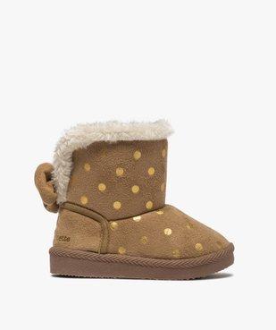 Boots d'intérieur bébé fille en suédine – Lulu Castagnette vue1 - LULU CASTAGNETT - GEMO