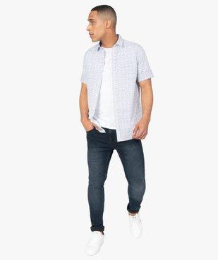 Tee-shirt homme à manches courtes uni vue5 - GEMO C4G HOMME - GEMO
