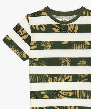 Tee-shirt garçon à rayures et motifs exotiques vue3 - GEMO (ENFANT) - GEMO