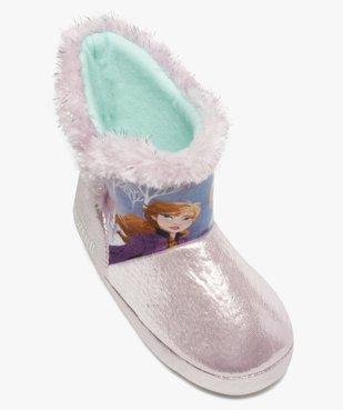 Chaussons fille boots à bords fourrés – Reine des Neiges vue5 - REINE DES NEIGE - GEMO