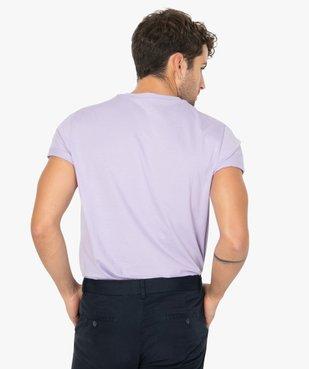 Tee-shirt homme à manches courtes et col rond vue3 - GEMO (HOMME) - GEMO