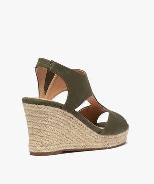 Sandales femme unies à talon compensé dessus couvrant vue4 - GEMO(URBAIN) - GEMO