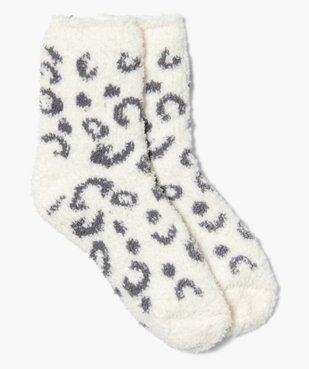 Chaussettes d'intérieur fille en maille bouclette vue1 - GEMO (ENFANT) - GEMO