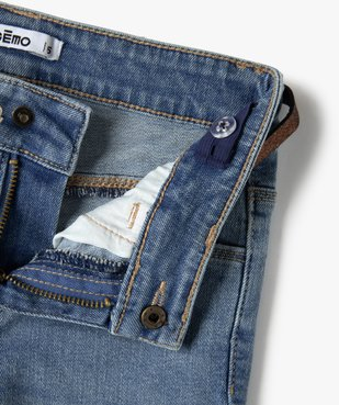 Jean fille coupe bootcut avec ceinture pailletée vue4 - Nikesneakers (ENFANT) - Nikesneakers