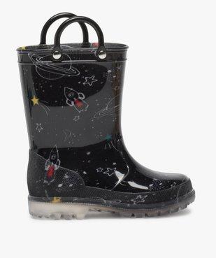 Bottes de pluie garçon avec motifs de l'espace vue1 - GEMO (ENFANT) - GEMO