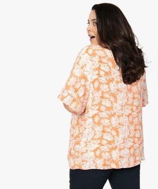 Chemise femme kimono fluide à fleurs vue3 - GEMO (G TAILLE) - GEMO