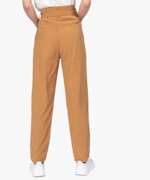 Pantalon femme coupe carotte taille haute vue3 - GEMO(FEMME PAP) - GEMO