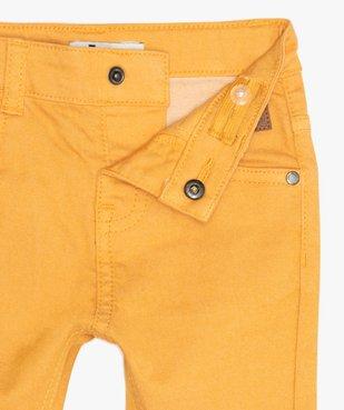 Pantalon bébé garçon coupe slim en toile extensible vue2 - GEMO(BEBE DEBT) - GEMO