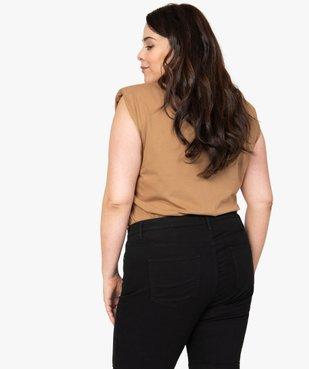 Tee-shirt femme à épaulettes avec message pailleté vue3 - Nikesneakers (G TAILLE) - Nikesneakers