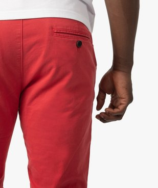 Pantalon chino homme en coton stretch vue2 - GEMO (HOMME) - GEMO