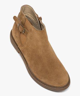 Boots fille style chelsea dessus cuir avec motif étoiles vue5 - GEMO (ENFANT) - GEMO