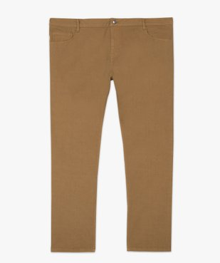 Pantalon homme coupe Straight en toile épaisse vue4 - GEMO (G TAILLE) - GEMO