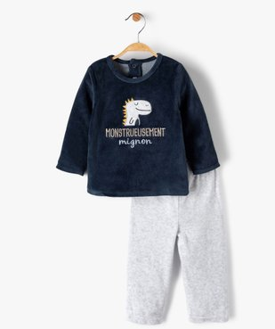 Pyjama bébé garçon 2 pièces avec motif dinosaure vue1 - GEMO(BB COUCHE) - GEMO