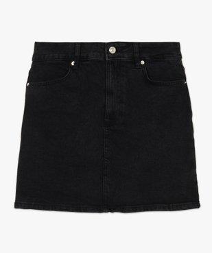 Jupe femme en jean extensible vue4 - GEMO(FEMME PAP) - GEMO