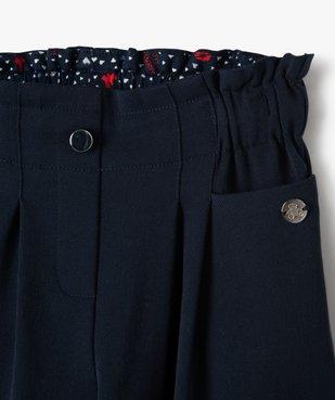 Pantalon fille large à taille haute élastiquée - Lulu Castagnette vue2 - LULUCASTAGNETTE - Nikesneakers