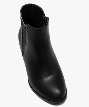 Boots fille unies à talon et élastique pailleté rock vue5 - GEMO (ENFANT) - GEMO