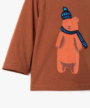 Tee-shirt bébé garçon à manches longues à motif recto-verso vue3 - GEMO(BEBE DEBT) - GEMO
