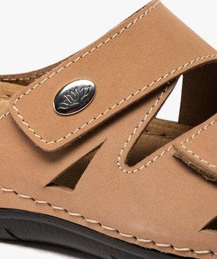 Mules femme confort unies dessus cuir à brides scratch  vue6 - GEMO (CONFORT) - GEMO