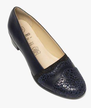 Escarpins confort femme en cuir imprimé vue5 - GEMO (CONFORT) - GEMO