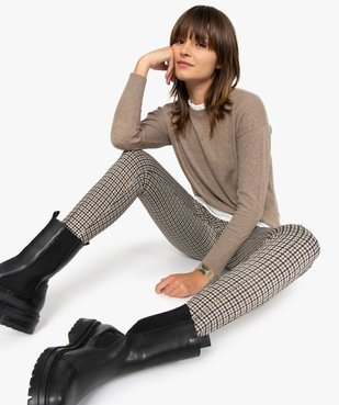 Leggings femme à motifs pied de coq vue1 - Nikesneakers(FEMME PAP) - Nikesneakers