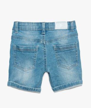 Bermuda bébé garçon en jean stretch délavé – Lulu Castagnette vue2 - LULUCASTAGNETTE - GEMO