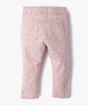 Pantalon bébé fille coupe slim avec taille élastiquée vue3 - GEMO(BEBE DEBT) - GEMO