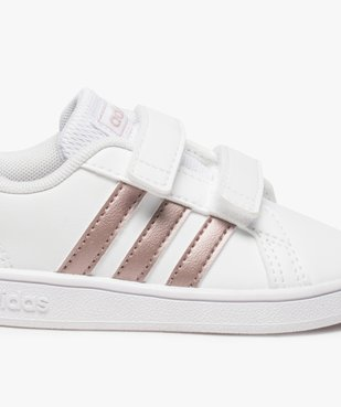 Baskets bébé fille à scratch Grand Court Adidas vue6 - ADIDAS - Nikesneakers
