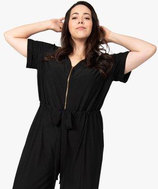 Combinaison pantalon femme ouverture zippée vue5 - GEMO (G TAILLE) - GEMO