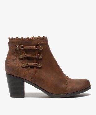 Boots femme unis à talon finitions fantaisie vue1 - GEMO(URBAIN) - GEMO