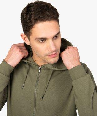 Sweat homme à capuche contenant du coton bio vue2 - GEMO C4G HOMME - GEMO