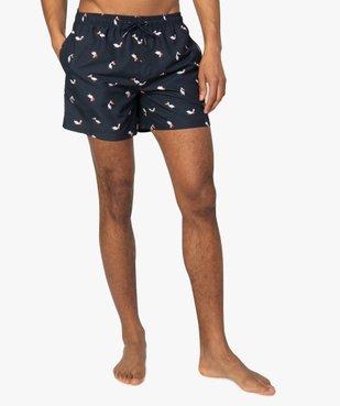 Short de bain homme motif pélicans vue1 - GEMO (PLAGE) - GEMO
