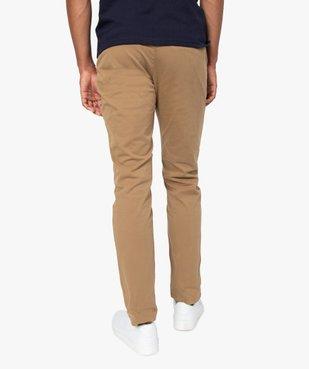 Pantalon chino homme en coton stretch vue3 - Nikesneakers (HOMME) - Nikesneakers