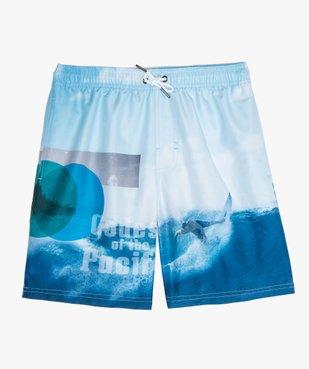 Short de bain garçon à motif surf vue1 - GEMO (JUNIOR) - GEMO