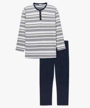 Pyjama homme avec haut rayé vue4 - Nikesneakers(HOMWR HOM) - Nikesneakers