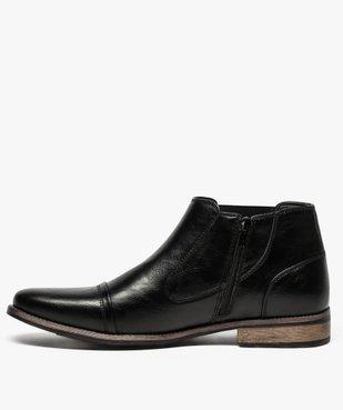 Boots homme fermeture zippée avec bloucle sur le côté vue3 - GEMO (HOMME) - GEMO