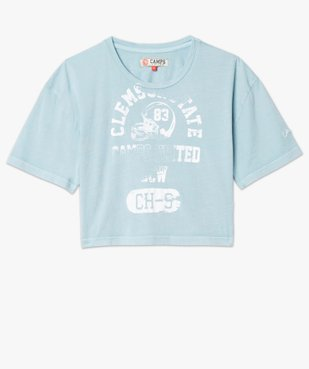 Tee-shirt femme crop-top style vintage - Camps vue4 - CAMPS UNITED - GEMO