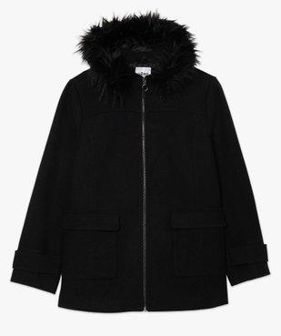 Manteau femme court à capuche fantaisie vue4 - GEMO (G TAILLE) - GEMO