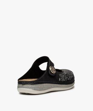 Sabots femme confort à bride scratch et motif floral vue4 - Nikesneakers (CONFORT) - Nikesneakers