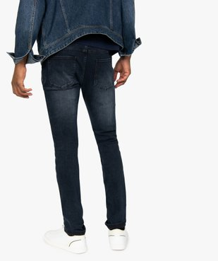 Jean homme skinny délavé avec plis sur les hanches vue3 - Nikesneakers (HOMME) - Nikesneakers
