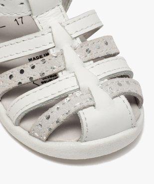Sandales premiers pas bébé fille à brides en cuir vue6 - Nikesneakers(BEBE DEBT) - Nikesneakers