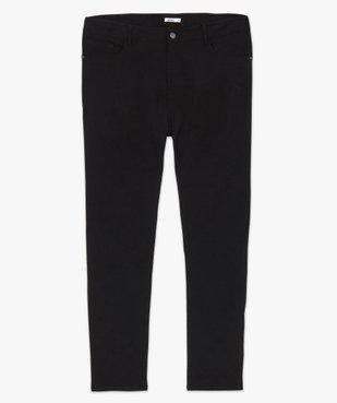 Pantalon femme droit en toile fine stretch vue4 - GEMO (G TAILLE) - GEMO