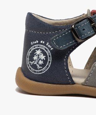 Sandales premiers pas bébé garçon en cuir vue6 - GEMO(BEBE DEBT) - GEMO