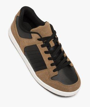 Baskets homme basses à lacets style skate shoes vue5 - GEMO (HOMME) - GEMO