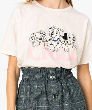 Tee-shirt femme large - Disney Animals Les 101 dalmatiens vue2 - DISNEY DTR - GEMO