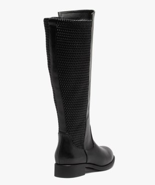 Bottes femme unies à talon plat vue4 - Nikesneakers (CASUAL) - Nikesneakers
