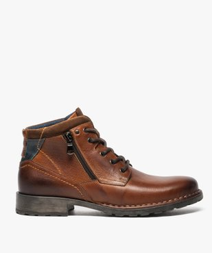 Boots homme style workwear vue1 - GEMO (CASUAL) - GEMO