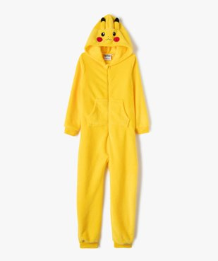 Combinaison pyjama garçon zippée Pikachu - Pokemon vue1 - POKEMON - GEMO
