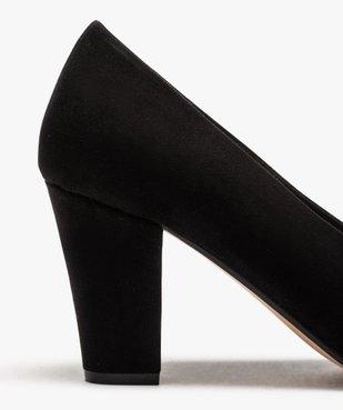 Escarpins femme en suédine coupe spéciale pied large vue6 - GEMO(URBAIN) - GEMO